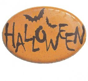 CHOCOLATE BLISTER - OVAL CAVITIES - PRINTED WITH ORANGE BATS ''HALLOWEEN''