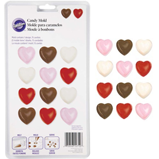 Vincent Selection Chocolate Mold Small Hearts