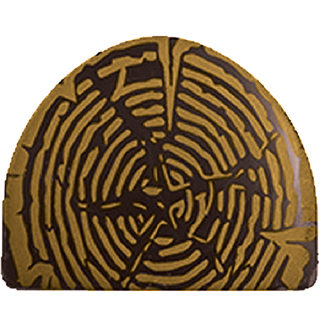 DARK CHOCOLATE LOG KNOT - PRINTED WITH GOLD WOOD PATTERN